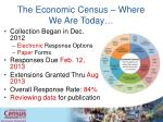 the economic census where we are today