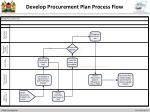 develop procurement plan process flow