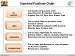 standard purchase order