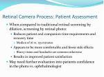 retinal camera process patient assessment
