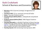 ruth cruikshank school of business and economics