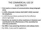 the commercial use of electricity
