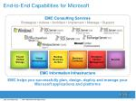 end to end capabilities for microsoft