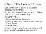cities at the heart of power