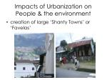 impacts of urbanization on people the environment