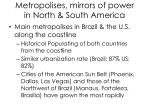metropolises mirrors of power in north south america