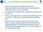 agreement queries now agreement reports