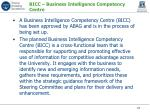 bicc business intelligence competency centre