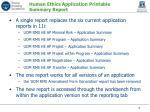 human ethics application printable summary report