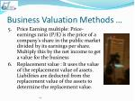 business valuation methods2