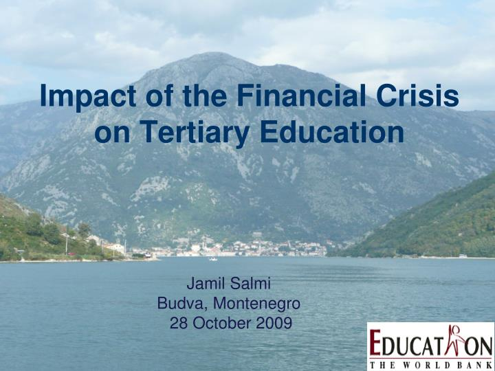 impact of the financial crisis on tertiary education n.