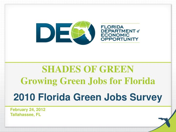 shades of green growing green jobs for florida n.