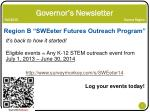 governor s newsletter fall 2013 sonora region6