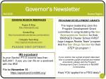 governor s newsletter fall 2013 sonora region8