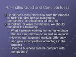 4 finding good and concrete ideas