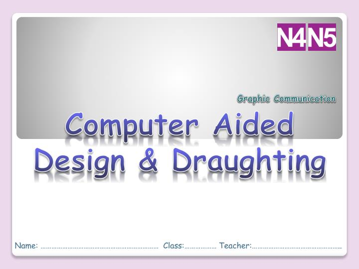 computer aided design draughting n.