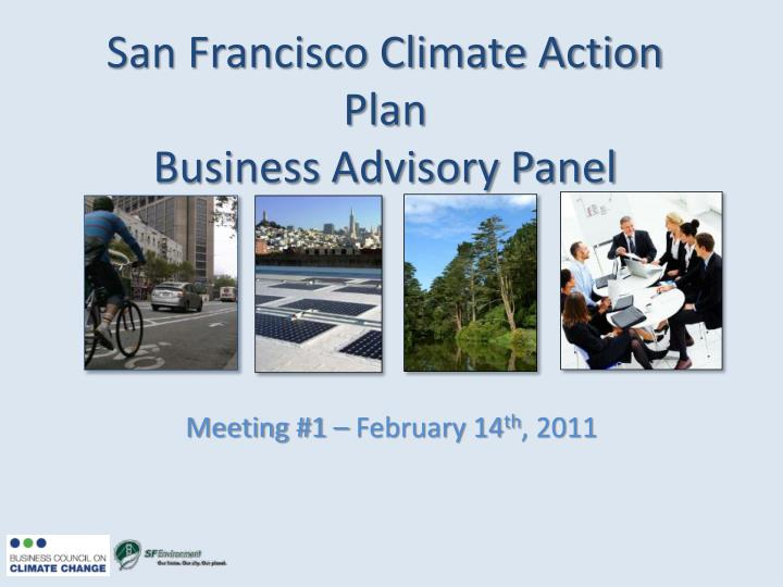 san francisco climate action plan business advisory panel n.
