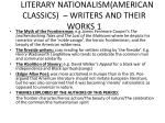 literary nationalism american classics writers and their works 1