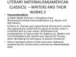 literary nationalism american classics writers and their works 3