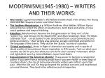 modernism 1945 1980 writers and their works