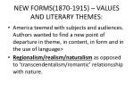 new forms 1870 1915 values and literary themes