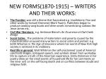 new forms 1870 1915 writers and their works