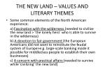 the new land values and literary themes