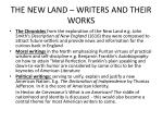 the new land writers and their works