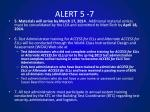 alert 5 7