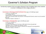governor s scholars program