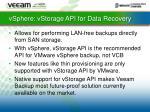 vsphere vstorage api for data recovery