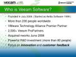who is veeam software