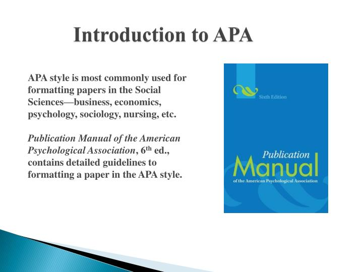 introductions to apa research papers 27-10-2016 2/2 apa research paper introduction example other files available to download [pdf] hid lamp troubleshooting guide there are two common types of papers written in fields using apa style: the literature review and the experimental report each has unique requirements concerning the.