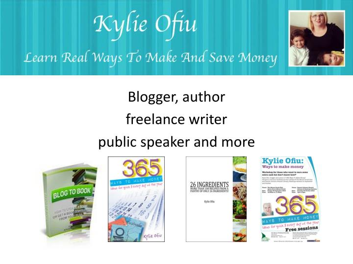 blogger author freelance writer public speaker and more n.