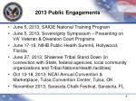 2013 public engagements1