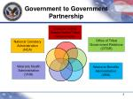 government to government partnership