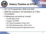 history timeline on otgr