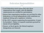 federation responsibilities