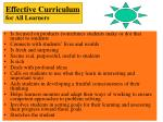 effective curriculum for all learners1