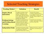 selected teaching strategies2