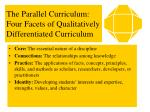 the parallel curriculum four facets of qualitatively differentiated curriculum