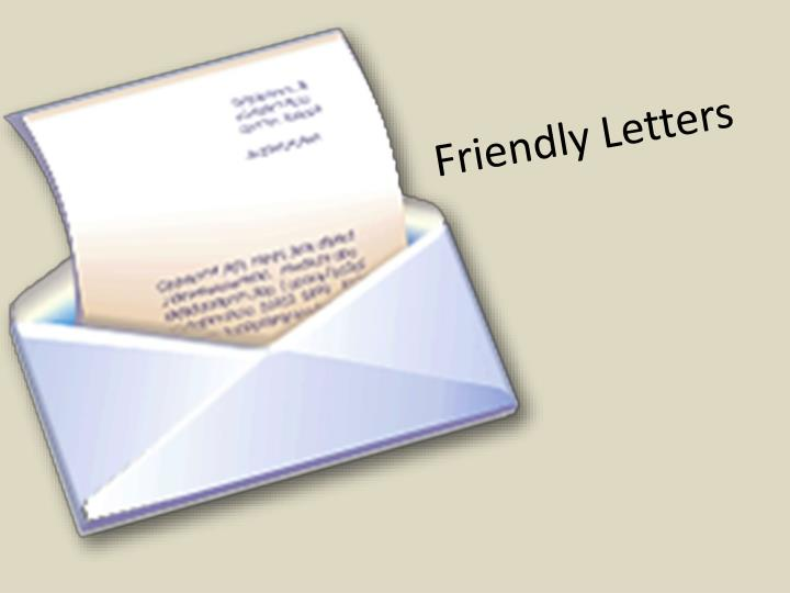 friendly letters n.