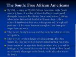 the south free african americans