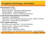 engaging workshops the theory