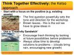 think together effectively the ketso approach2