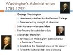 washington s administration 1789 1797