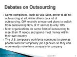 debates on outsourcing
