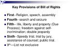 key provisions of bill of rights