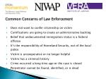common concerns of law enforcement