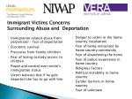 immigrant victims concerns surrounding abuse and deportation